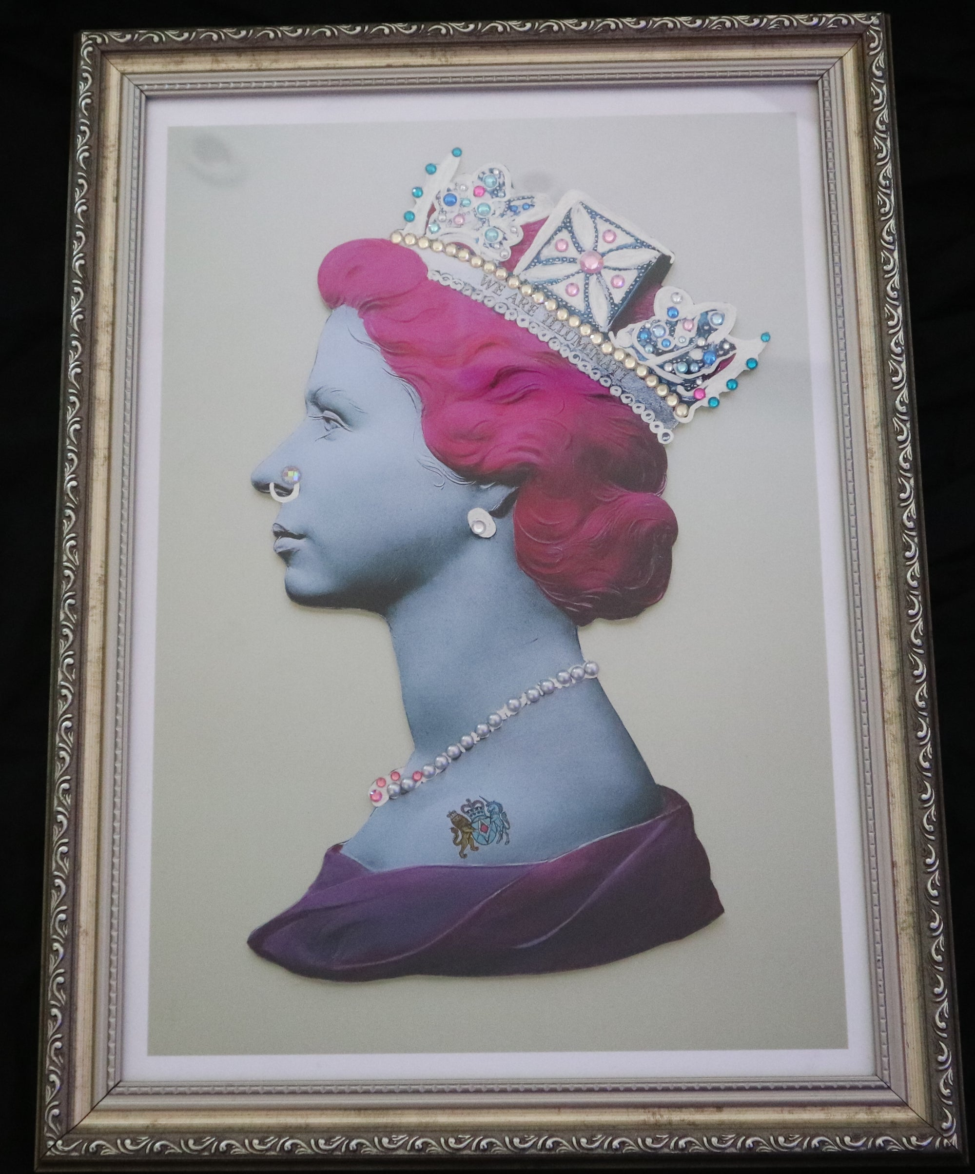 Illuminati Neon - Mini Pink Silver Punk Queen (Framed)