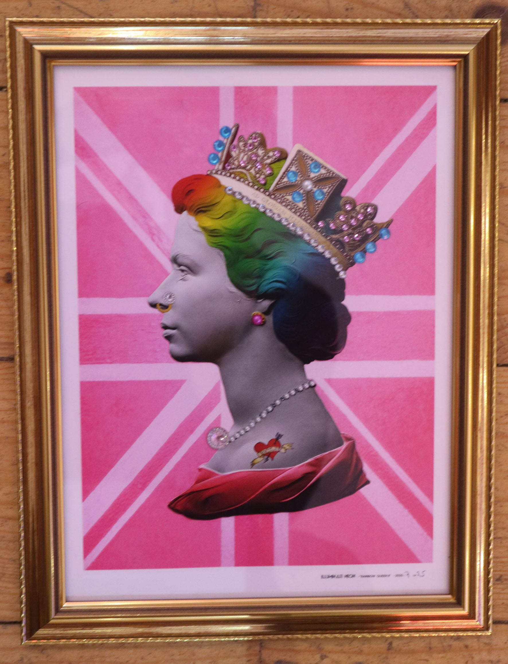 Illuminati Neon - Mini Rainbow Punk Queen II (Framed)
