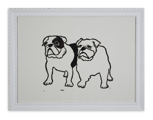 Hugo Guinness - Mr and Mrs Bulldog (Framed)