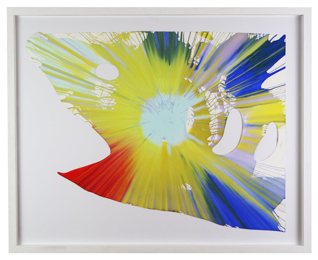 Damien Hirst - Shark (Spin Painting - Framed)