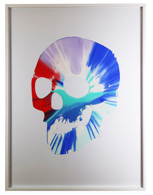 Damien Hirst Skull Spin Painting For Sale The Art Hound Gallery