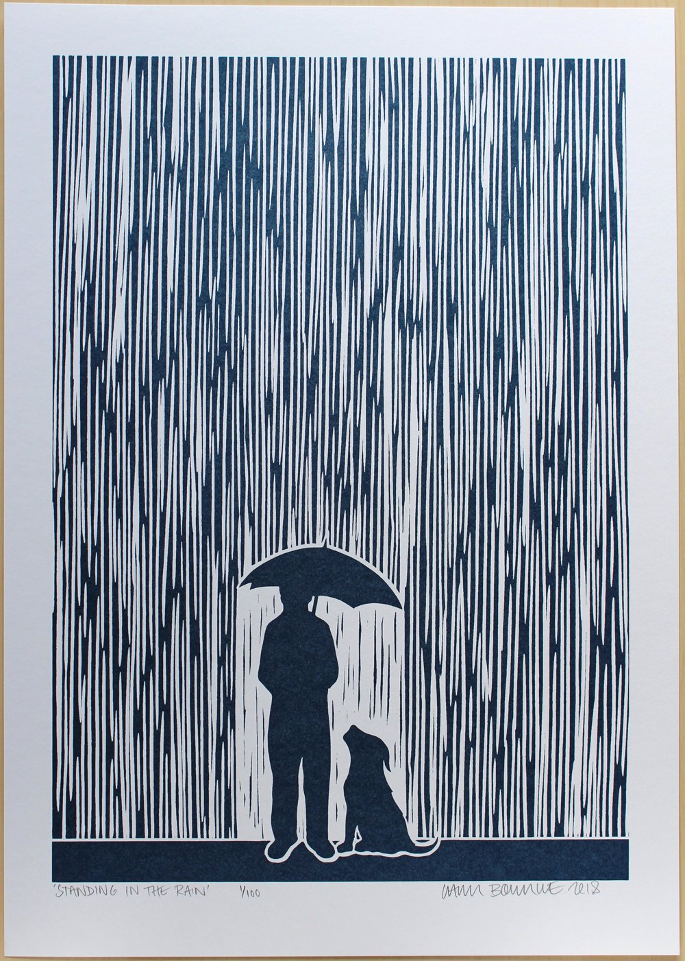 Chris Bourke - Standing In The Rain (Metallic Blue Edition)