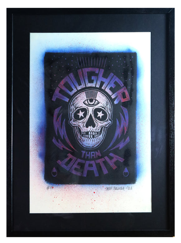 Chris Bourke - Tougher Than Death 15 (Framed)