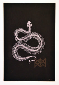 Will Wright - WYRM - Large scale white and black with runecharm