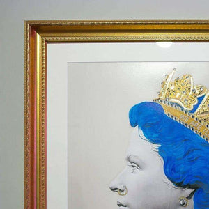 Illuminati Neon - Blue Punk Queen (Framed)