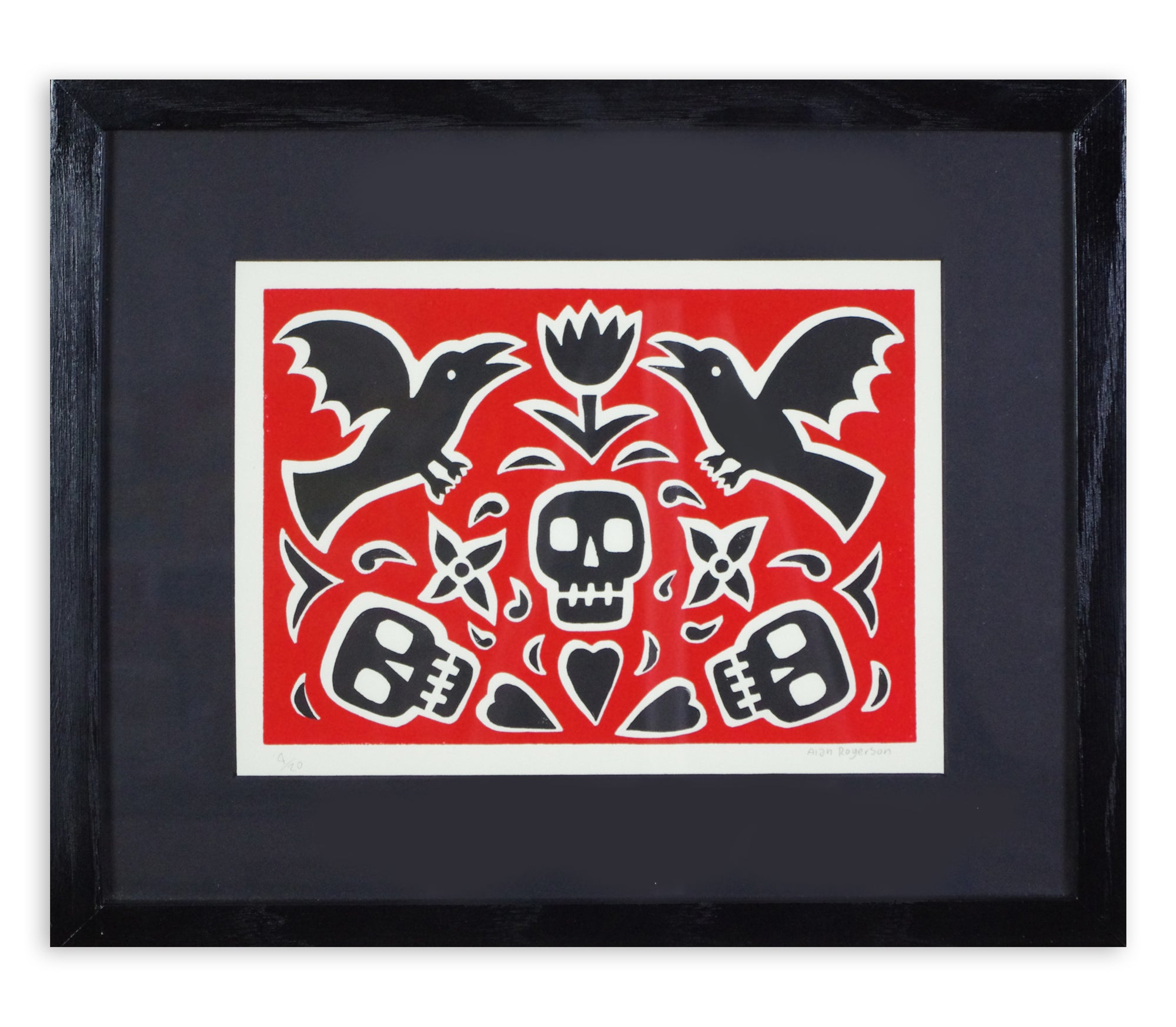 Alan Rogerson - Untitled (Skulls & Crows)