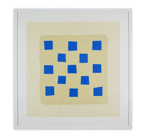Breon O'Casey - Blue Squares (Framed)