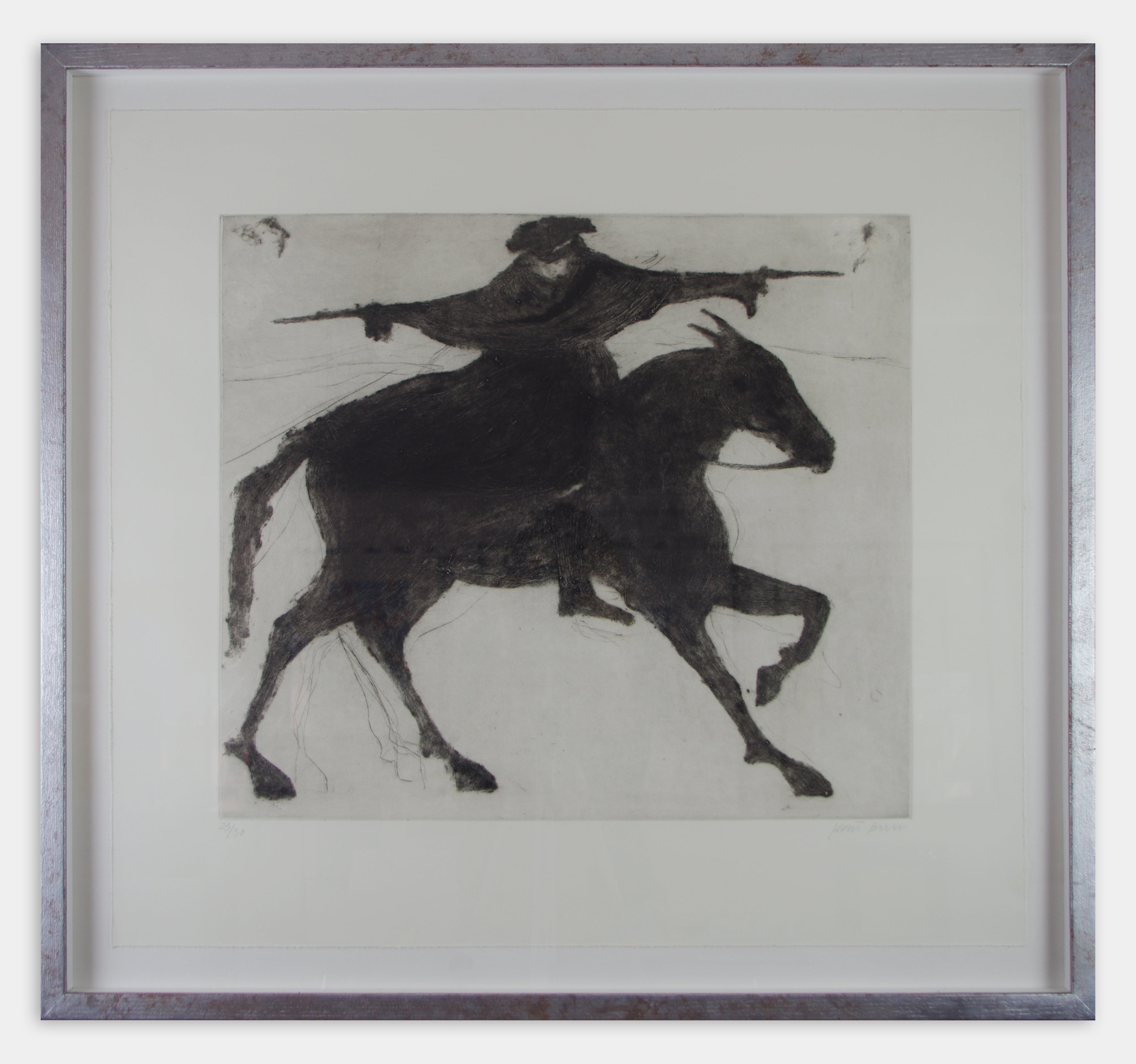 Dick Turpin on his way to York (Framed)