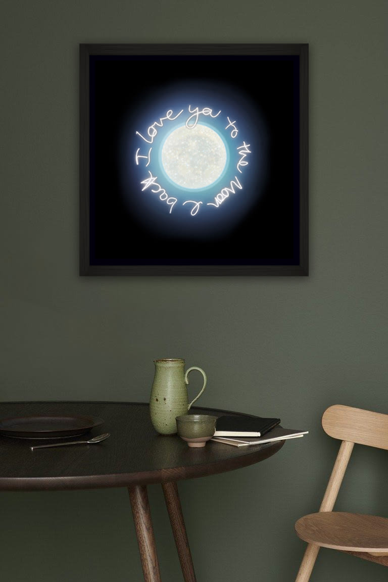 Lauren Baker - Midnight Moon (Framed)