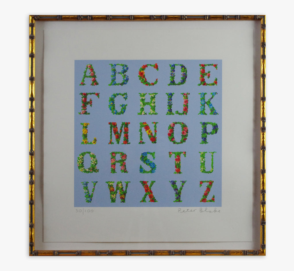 Appropriated Alphabet 8 (Framed)