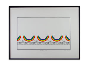 Patrick Hughes - Rainbows on a Train (Framed)