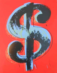 Andy Warhol / Sunday B Morning - Dollar Sign (Red / Blue)