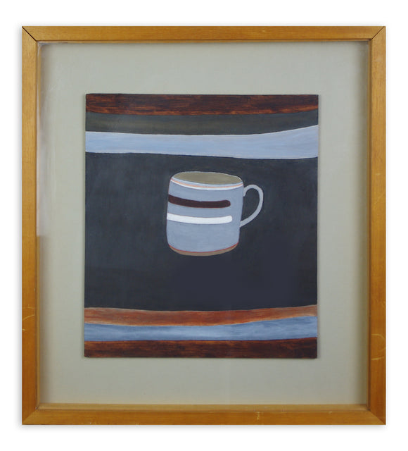 Rachel Nicholson - Grey Mug with Stripes