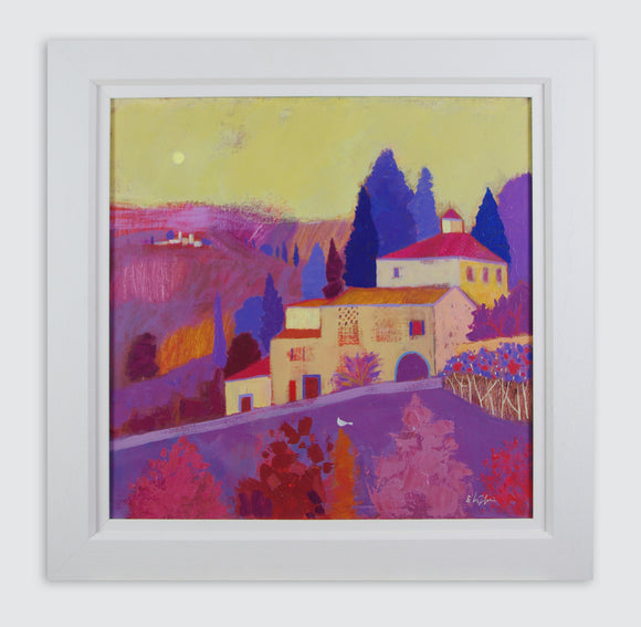 Giuliana Lazzerini - Road to Barga (Framed)