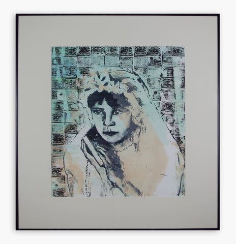 Renee Spierdijk - Girl With Bible (The Eyes Have It) (Framed)