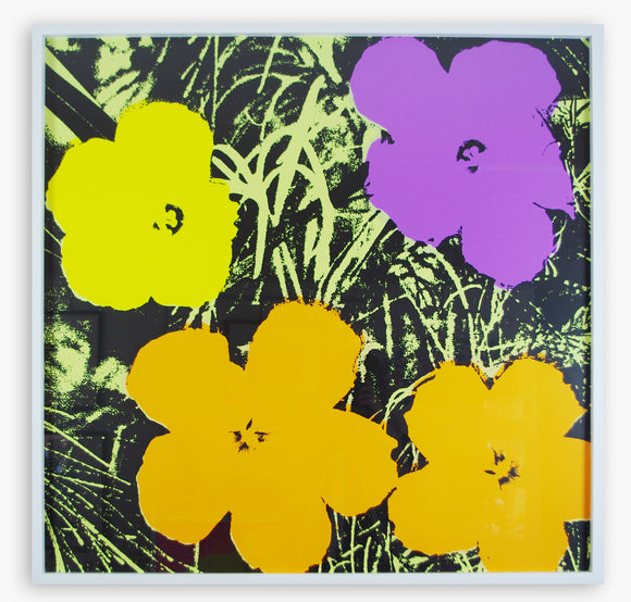 Andy Warhol / Sunday B Morning - Flowers 11.67 (Framed)