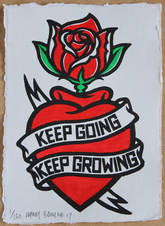 Chris Bourke - Keep Going, Keep Growing - (New Rose)