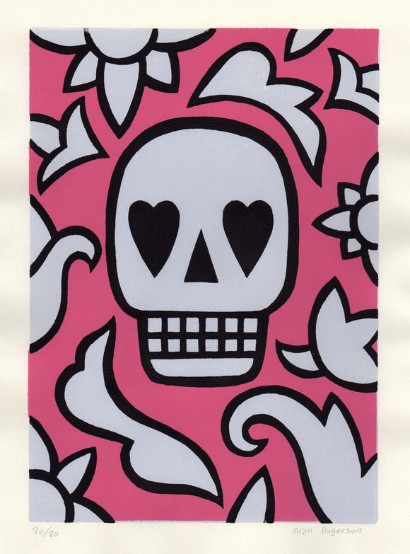 Alan Rogerson - We All Love Pink (Skull)