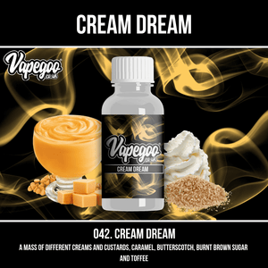 Cream Dream | Vape Eliquid Vapegoo Flavour | Vape Juice E Liquid