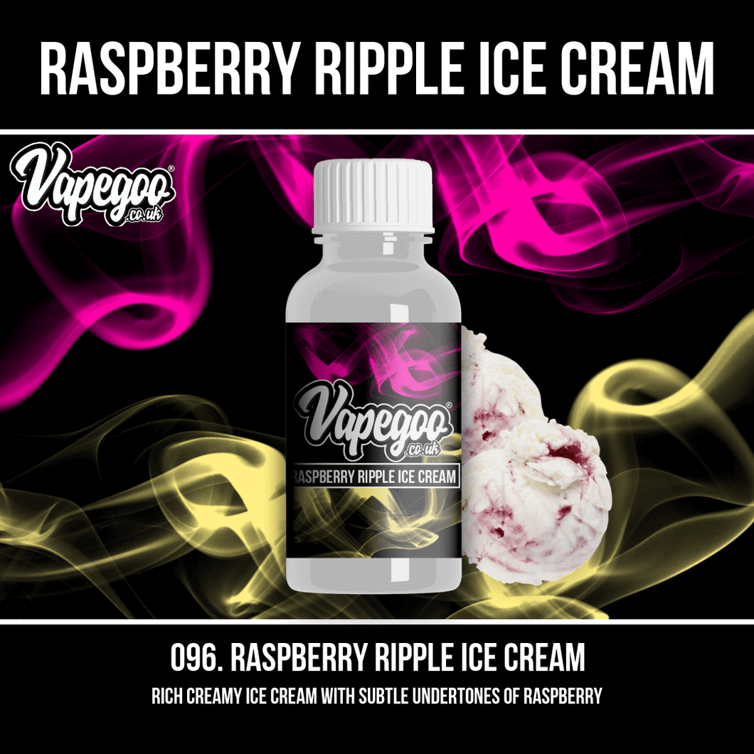 Raspberry Ripple Ice Cream | Vape Eliquid Vapegoo Flavour | Vape Juice E Liquid