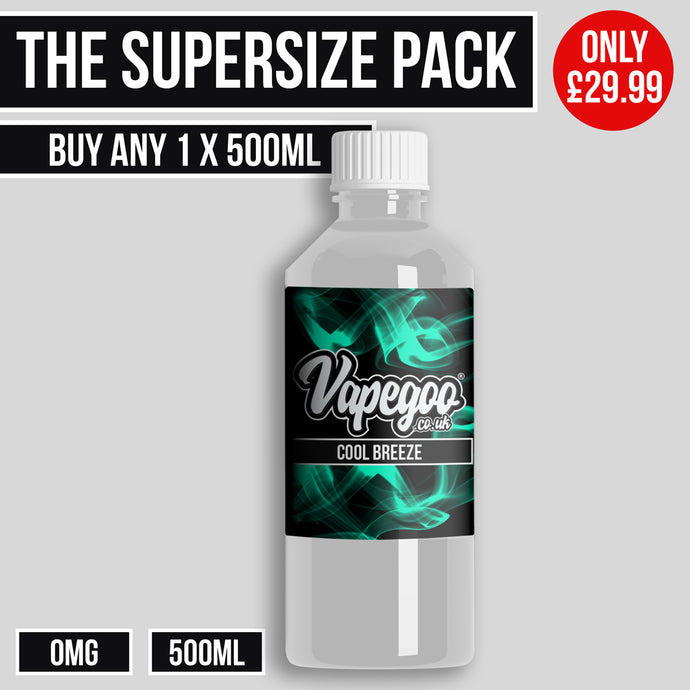 500ml Eliquid 0mg - Vapegoo