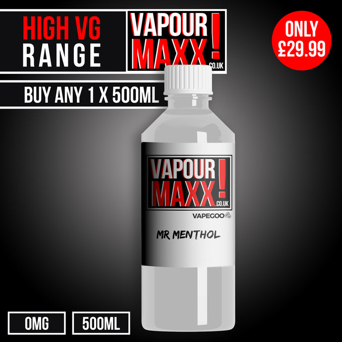 High VG eliquid 500ml (0mg) - Vapourmaxx | Vapegoo