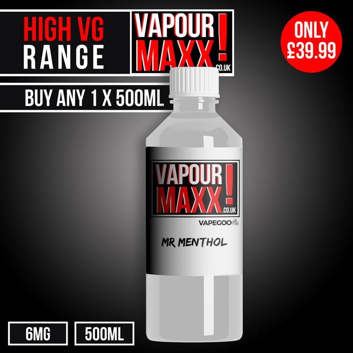 High VG eliquid 500ml (6mg) - Vapourmaxx | Vapegoo