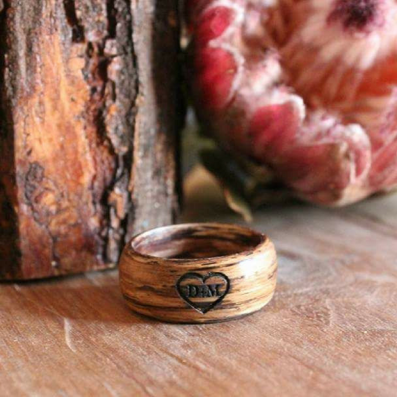Wooden Ring - Caramel Oak