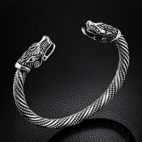 Viking Wolf head Bracelet - Free Shipping