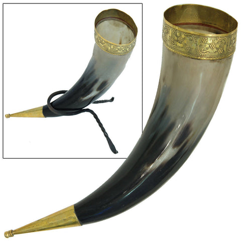 Viking Brass Drinking Horn
