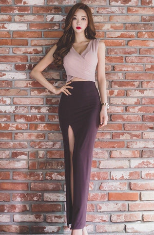Nicolene Cutout Maxi Dress *size L left