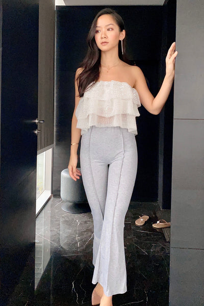 Legs for Days Grey Wide Ankle Pants