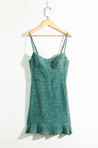 Modena Green Cami Mini Dress