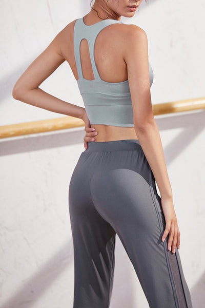 N's Favourite Sports Bra Crop Top - Grey