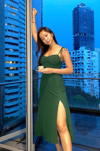 Amelia Dark Green Cami Dress