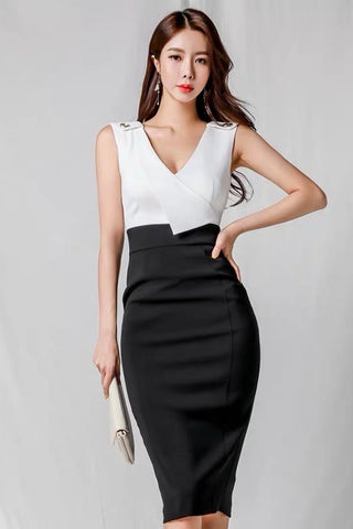 Alexi Monochrome Midi Work Dress