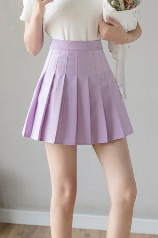 Carefree Mini Skirt - Lilac