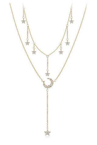Moon & Stars Layered Necklace Set