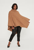 Camel Turtle Neck Poncho