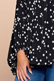 Dotted V Neck Top