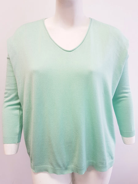 Agel Mint V Neck Knitwear