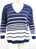 Agel Stripe V Neck Knitwear