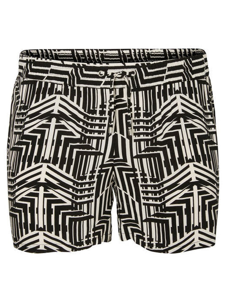 JUNAROSE Printed Shorts in Black & White