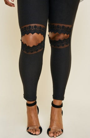 Lace Cut Out Leggings