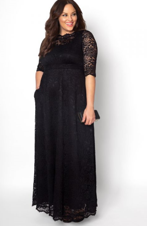 Leona Lace Gown in Black