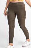 Soft Moto Leggings in Olive