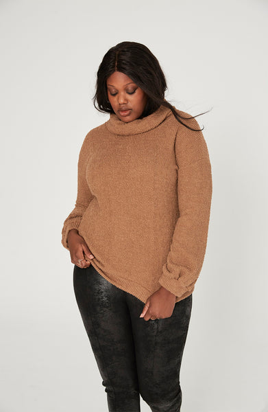 Camel Turtle Neck Sweater