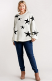 Star Sweater in Off White