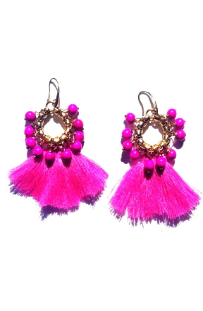 Very Valero Tassel Earrings - Purple