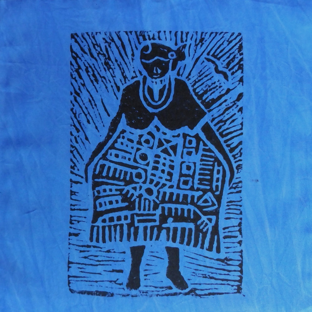 South African Panel - African Woman in Purplish Blue